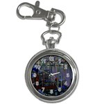 Christmas Boats In Harbor Key Chain Watches Front