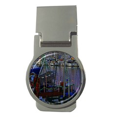 Christmas Boats In Harbor Money Clips (Round)