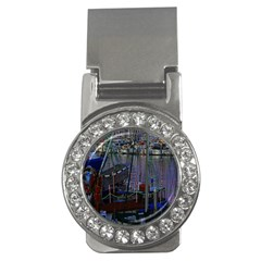 Christmas Boats In Harbor Money Clips (CZ)