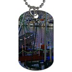 Christmas Boats In Harbor Dog Tag (One Side) Front