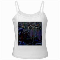 Christmas Boats In Harbor Ladies Camisoles