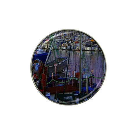 Christmas Boats In Harbor Hat Clip Ball Marker (10 pack)