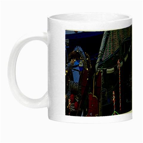 Christmas Boats In Harbor Night Luminous Mugs