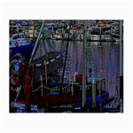 Christmas Boats In Harbor Small Glasses Cloth Front