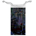 Christmas Boats In Harbor Jewelry Bags Back