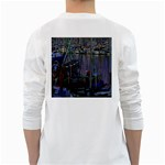Christmas Boats In Harbor White Long Sleeve T-Shirts Back