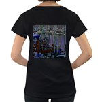 Christmas Boats In Harbor Women s Loose-Fit T-Shirt (Black) Back