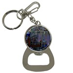 Christmas Boats In Harbor Bottle Opener Key Chains Front