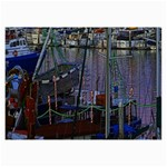 Christmas Boats In Harbor Collage Prints 18 x12 Print - 2