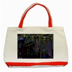 Christmas Boats In Harbor Classic Tote Bag (Red) Front
