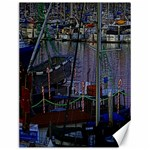 Christmas Boats In Harbor Canvas 12  x 16   16 x12 Canvas - 1