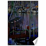 Christmas Boats In Harbor Canvas 12  x 18   18 x12 Canvas - 1