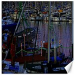 Christmas Boats In Harbor Canvas 16  x 16   16 x16 Canvas - 1