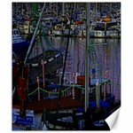 Christmas Boats In Harbor Canvas 20  x 24   24 x20 Canvas - 1