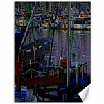 Christmas Boats In Harbor Canvas 36  x 48   48 x36 Canvas - 1