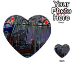 Christmas Boats In Harbor Playing Cards 54 (Heart)  Front - Heart7