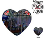 Christmas Boats In Harbor Playing Cards 54 (Heart)  Front - Heart10
