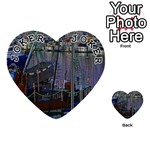 Christmas Boats In Harbor Playing Cards 54 (Heart)  Front - Joker1
