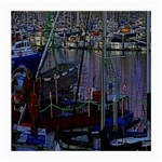 Christmas Boats In Harbor Medium Glasses Cloth (2-Side) Front