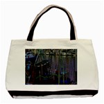 Christmas Boats In Harbor Basic Tote Bag (Two Sides) Back