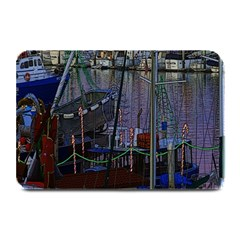 Christmas Boats In Harbor Plate Mats