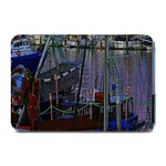 Christmas Boats In Harbor Plate Mats 18 x12 Plate Mat - 1