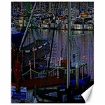 Christmas Boats In Harbor Canvas 11  x 14   14 x11 Canvas - 1