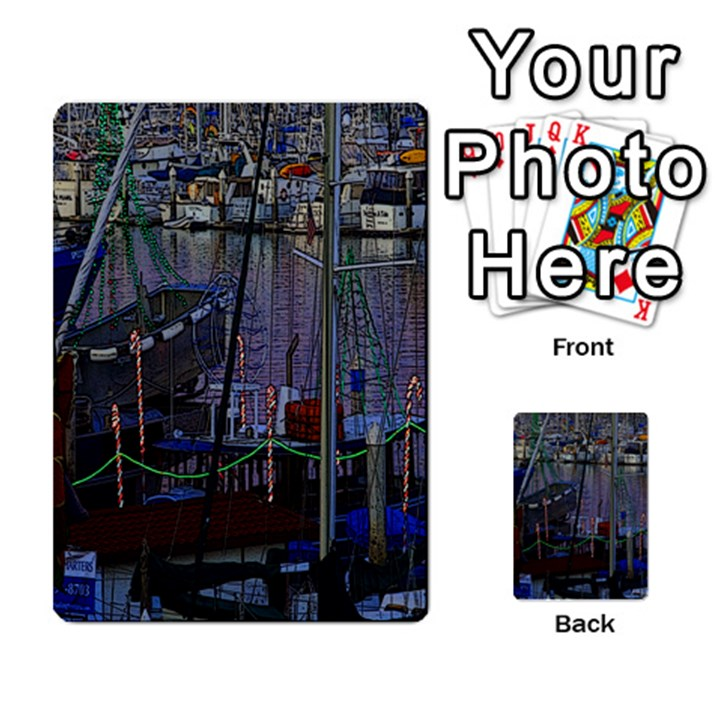 Christmas Boats In Harbor Multi-purpose Cards (Rectangle)