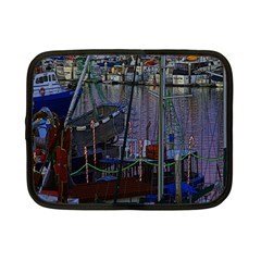 Christmas Boats In Harbor Netbook Case (Small)