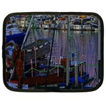 Christmas Boats In Harbor Netbook Case (Large) Front