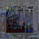 Christmas Boats In Harbor Mini Canvas 4  x 4  4  x 4  x 0.875  Stretched Canvas