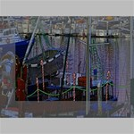 Christmas Boats In Harbor Mini Canvas 6  x 4  6  x 4  x 0.875  Stretched Canvas