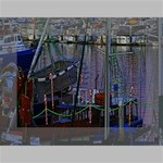 Christmas Boats In Harbor Mini Canvas 7  x 5  7  x 5  x 0.875  Stretched Canvas
