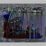 Christmas Boats In Harbor Canvas 10  x 8  10  x 8  x 0.875  Stretched Canvas