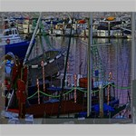 Christmas Boats In Harbor Canvas 20  x 16  20  x 16  x 0.875  Stretched Canvas