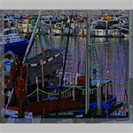 Christmas Boats In Harbor Canvas 24  x 20  24  x 20  x 0.875  Stretched Canvas