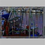 Christmas Boats In Harbor Canvas 18  x 12  18  x 12  x 0.875  Stretched Canvas