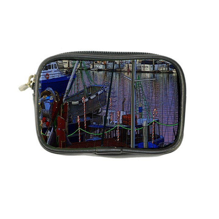 Christmas Boats In Harbor Coin Purse