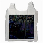 Christmas Boats In Harbor Recycle Bag (Two Side)  Back