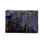 Christmas Boats In Harbor Cosmetic Bag (Large)  Front