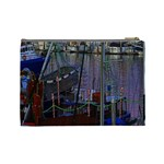 Christmas Boats In Harbor Cosmetic Bag (Large)  Back