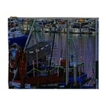 Christmas Boats In Harbor Cosmetic Bag (XL) Front