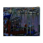 Christmas Boats In Harbor Cosmetic Bag (XL) Back