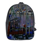 Christmas Boats In Harbor School Bags(Large)  Front