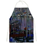 Christmas Boats In Harbor Full Print Aprons Front