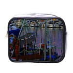 Christmas Boats In Harbor Mini Toiletries Bags Front