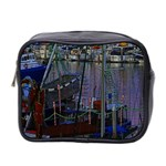 Christmas Boats In Harbor Mini Toiletries Bag 2-Side Front