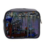 Christmas Boats In Harbor Mini Toiletries Bag 2-Side Back