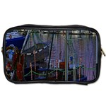 Christmas Boats In Harbor Toiletries Bags Front