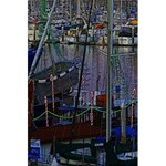 Christmas Boats In Harbor 5.5  x 8.5  Notebooks Front Cover